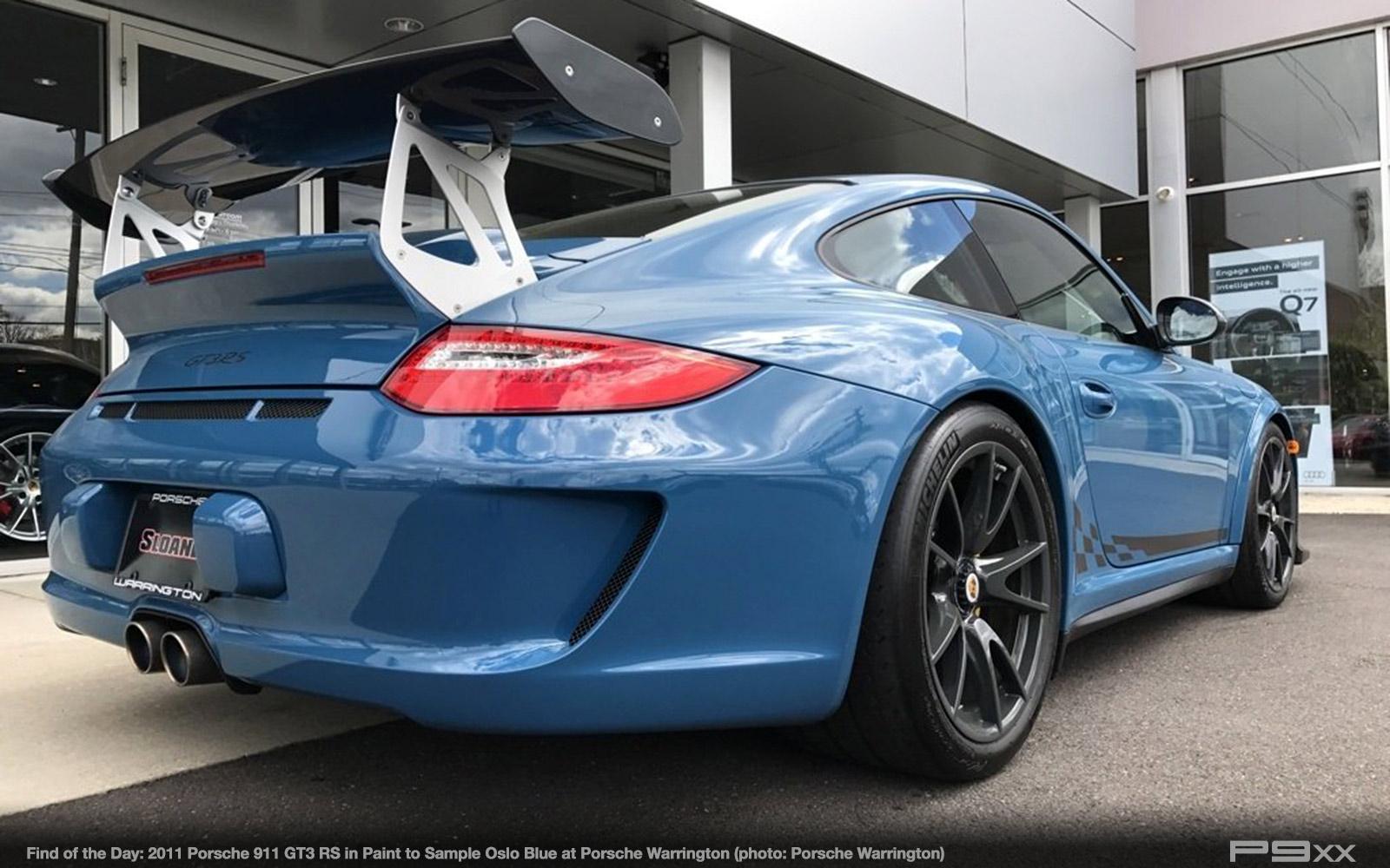 In Market Paint To Sample Oslo Blue 2011 Porsche 911 Gt3