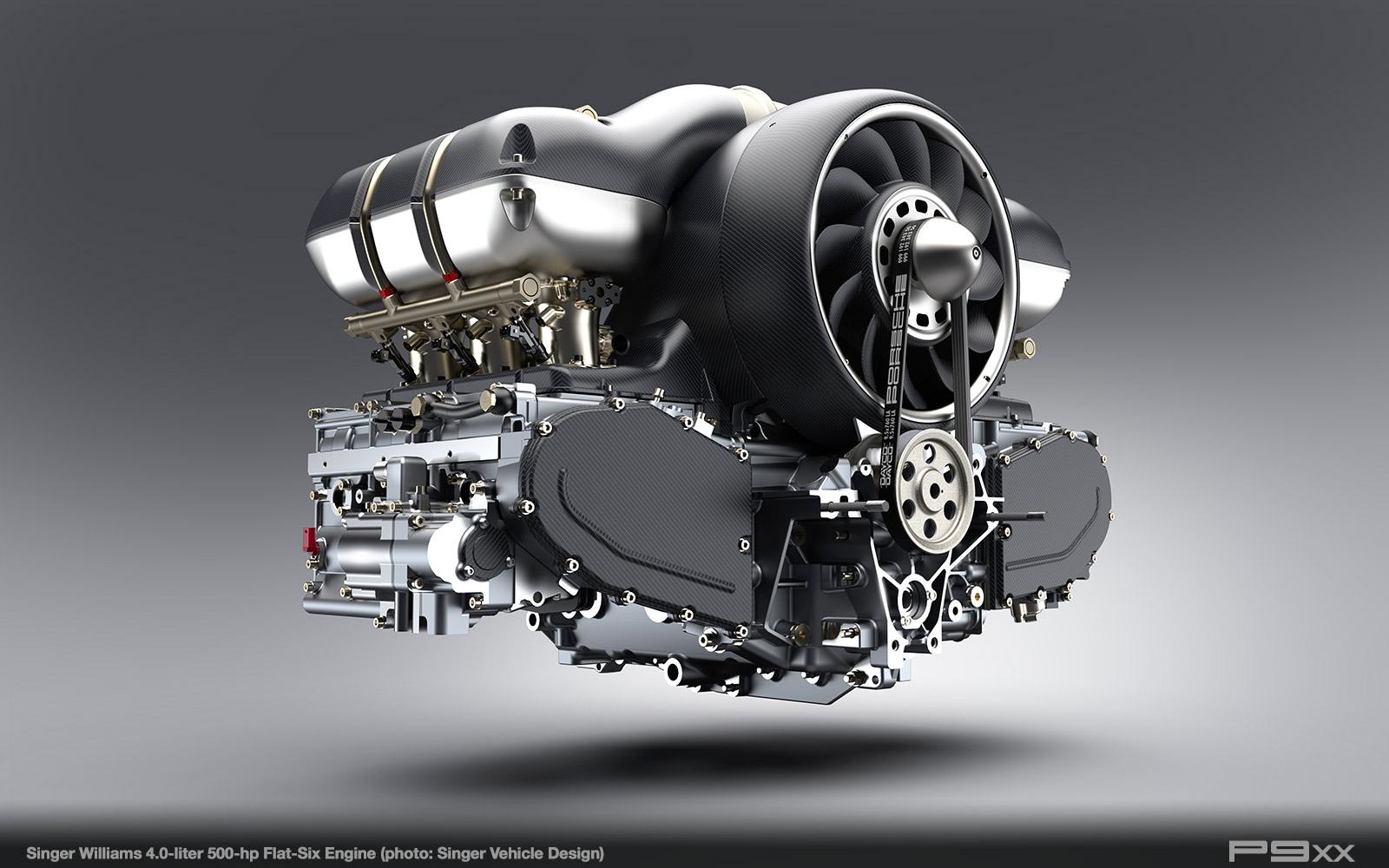 Singer Williams 4.0-liter Flat Six Engine