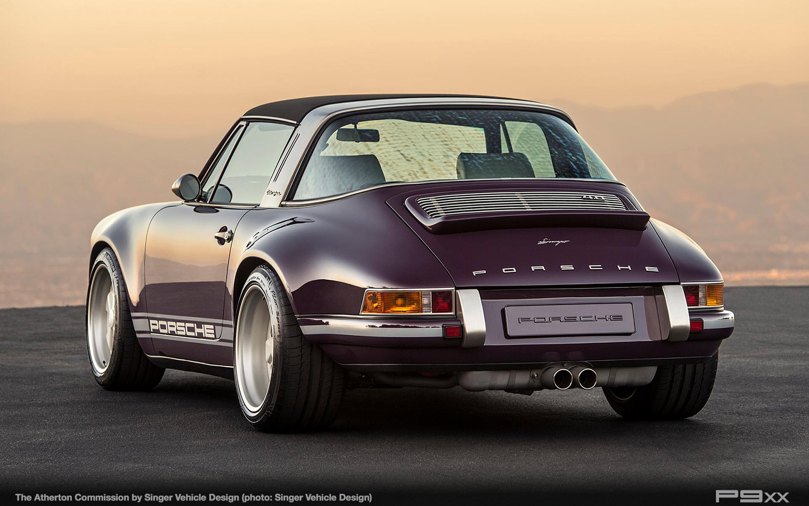singer atherton is one incredibly purple porsche targa p9xx. Black Bedroom Furniture Sets. Home Design Ideas
