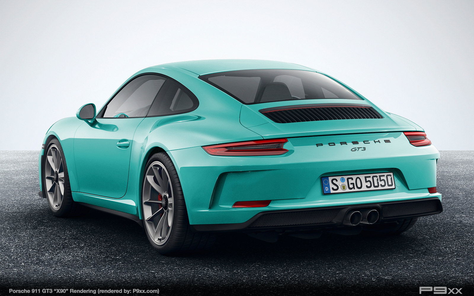 Porsche 911 gt3 rs review 2017 autocar - For Our X90 Rendering We Replaced The Larger Gt3 Whale Tail Deck Lid Spoiler For The More Subtle Pop Up Variant From The 911 Carrera Gts