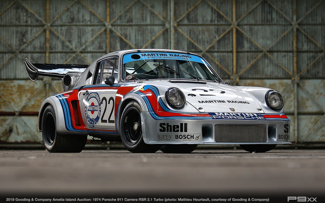 3 Historic Turbocharged Porsches Race to Gooding Amelia Auction – P9XX