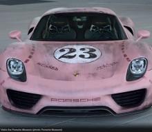 """918 Spyder """"Pink Pig"""" Visits Porsche Museum"""